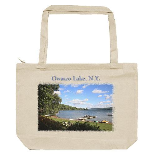 Owasco Lake Zippered Tote Bag