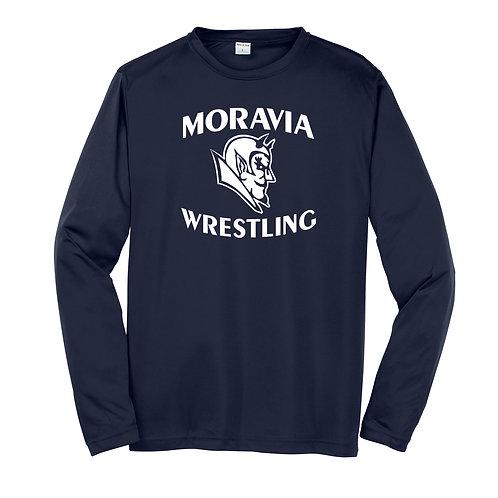 Moravia Wrestling Long Sleeve Wicking Tee ST350LS / YST350LS