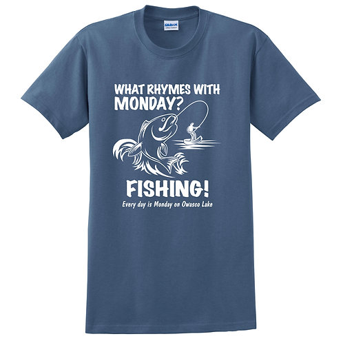 Monday Fishing Adult T-Shirt