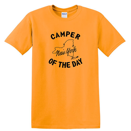 Camper of the Day Adult T-shirt