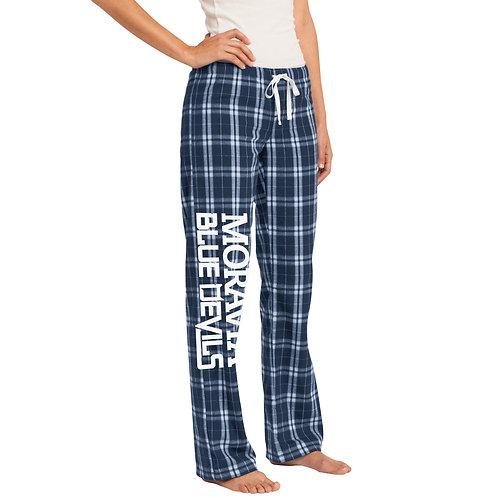 Moravia Blue Devils Women's Flannel Plaid Pant