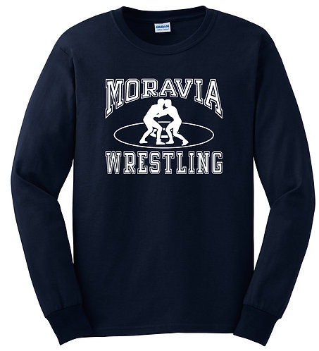 Moravia Wrestling Adult Long Sleeve Tee G2400
