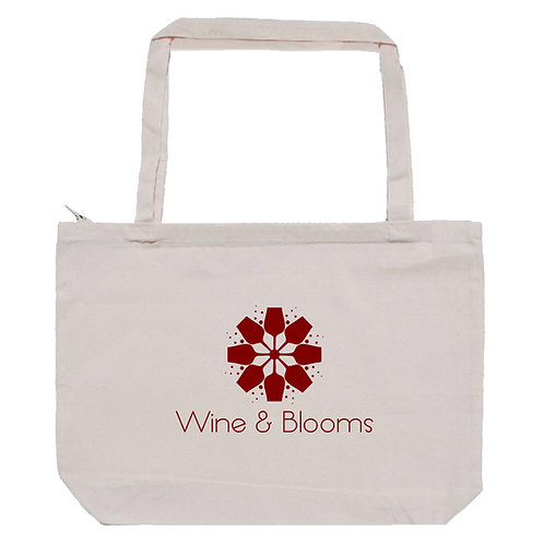 Wine & Blooms Zip Tote