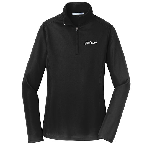 Willet Dairy Port Authority® Ladies Pinpoint Mesh 1/2-Zip