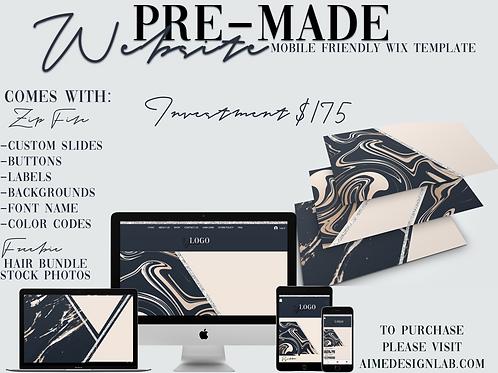BLUE PRE - MADE WIX WEBSITE