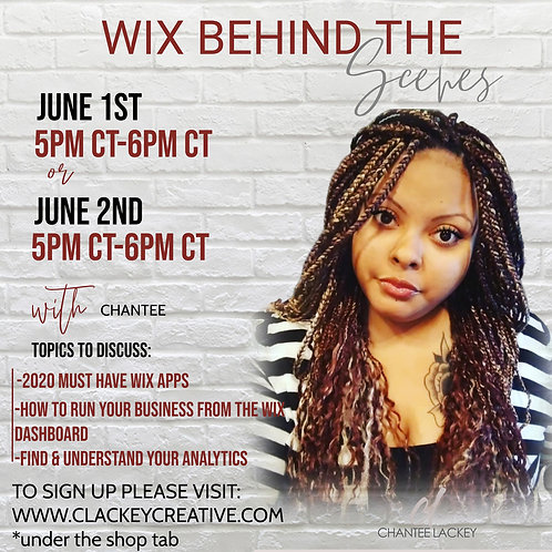 JUNE 1ST CLASS-LEARN HOW TO RUN YOUR BUSINESS FROM YOUR WIX DASHBOARD