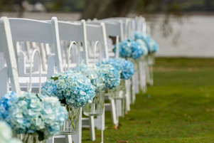 bouquets-of-hydrangeas-hanging-from-chai