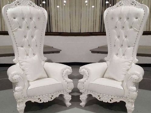 KING AND QUEEN THRONE CHAIR