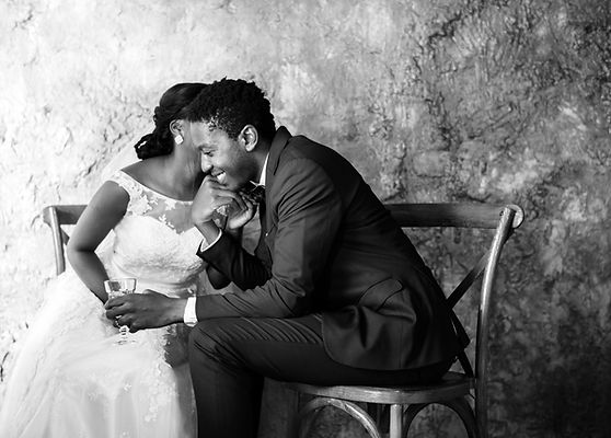 newlywed-african-descent-couple-wedding-