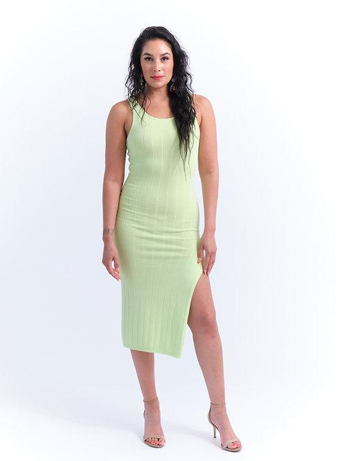 Lime Juice High Split Dress