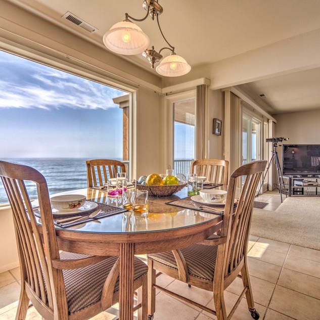 Condo 49 Dining Room-Living Room View No
