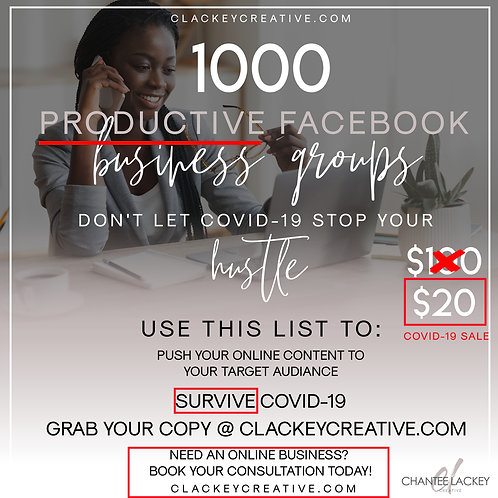 1K PRODUCTIVE FACEBOOK GROUPS