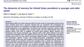 The Dynamics of Memory for United States Presidents in Younger and Older Adults