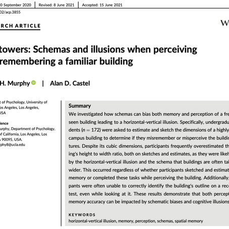 Tall towers: Schemas and illusions when perceiving and remembering a familiar building