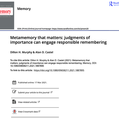 Metamemory that matters: judgments of importance can engage responsible remembering