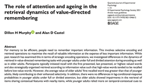 The Role of Attention and Ageing in the Retrieval Dynamics of Value-Directed Remembering
