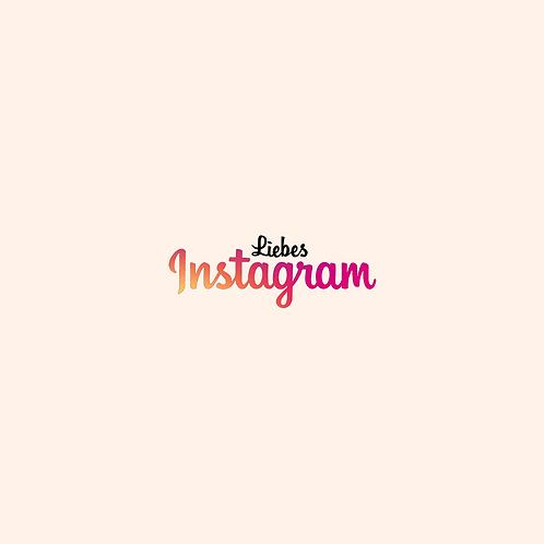Liebes Instagram - Text als PDF