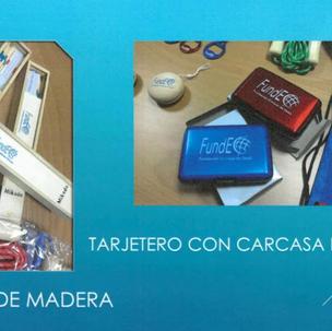 JOC MIKADO DE FUSTA Producte número 10: 2 euros. TARJETER D'ALUMINI Producte número 7: 2'50 euros