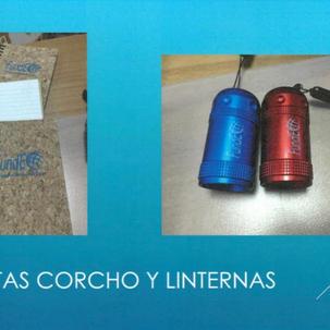 LLIBRETA DE SURO Producte número 16: 3 euros LLANTERA 6 LEDS D'ALUMINI Producte número 15: 3 euros