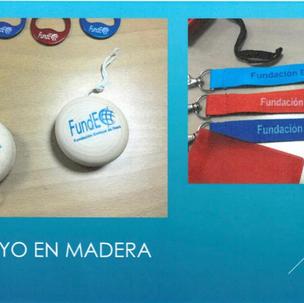 YO-YO DE FUSTA Producte número 12: 2'50 euros LANYARD Producte número 21: 1 euro