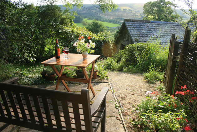 Relax overlooking the barn and countryside beyond