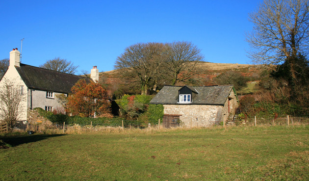 Easdon cottage and the barn