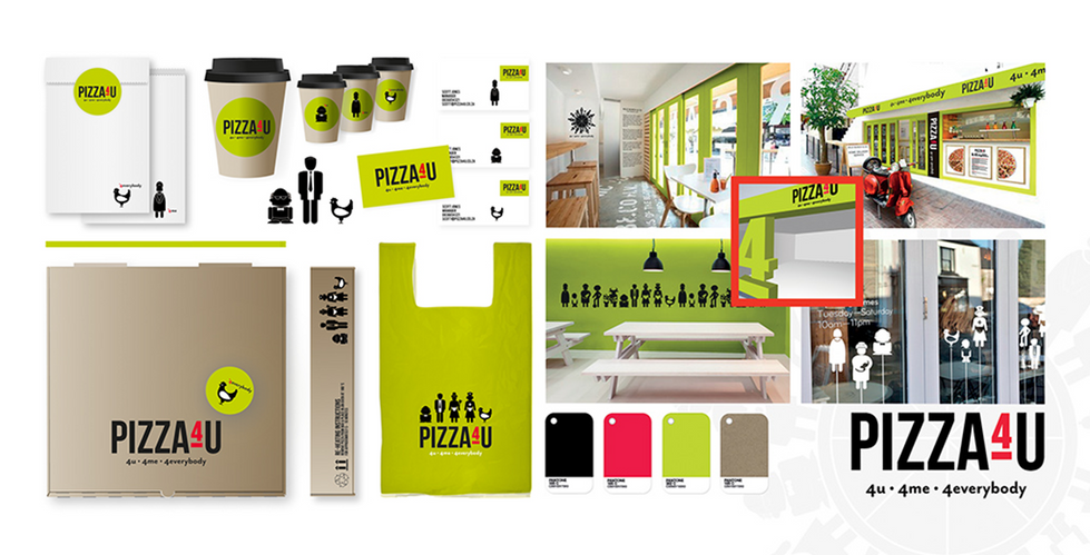 Pizza4U Branding