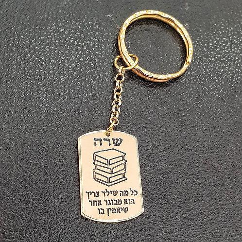 מחזיק מפתחות דגם מלבני