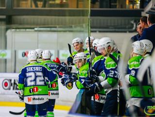 HK Mogo Latvijas čempionāta spēlē ar 4:3 papildlaikā uzvar HS Rīga hokejistus