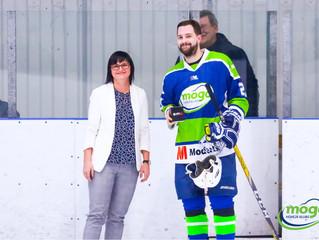 HK Mogo Latvijas čempionāta spēlē ar 4:3 pagarinājumā uzvar HK Kurbads hokejistus