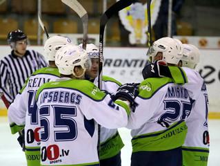 Latvijas čempionāta spēlē papildlaikā ar 2:1 uzvar HK Prizma hokejistus