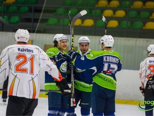 HK Mogo Latvijas čempionāta spēlēar 18:4 sagrauj Pārdaugavas hokejistus