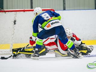 HK Mogo Latvijas čempionāta spēlē ar 8:1 pārliecinoši pārspēj HK Zemgale/LLU hokejistus