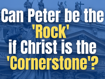 Can Peter be the 'Rock' in Matthew 16:18, if Christ is the 'Cornerstone'?