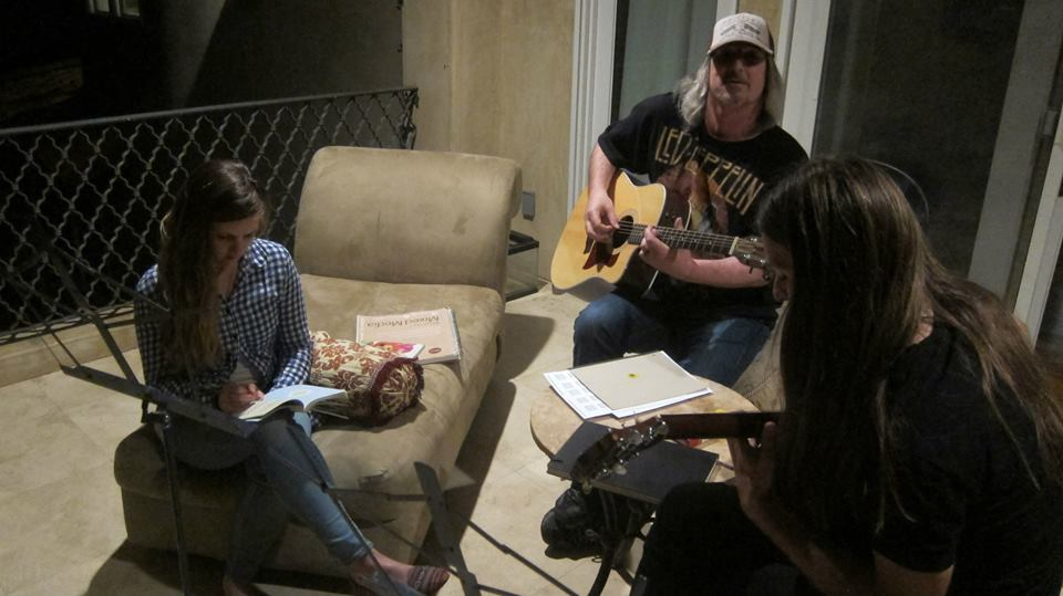 Songwriting at night