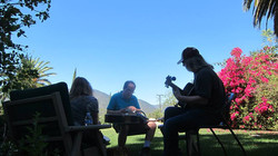 Songwriting under the blue sky