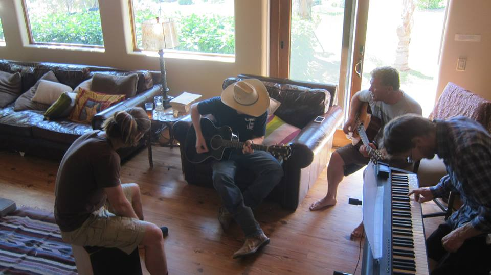 Jamming at our Songwriting Workshop