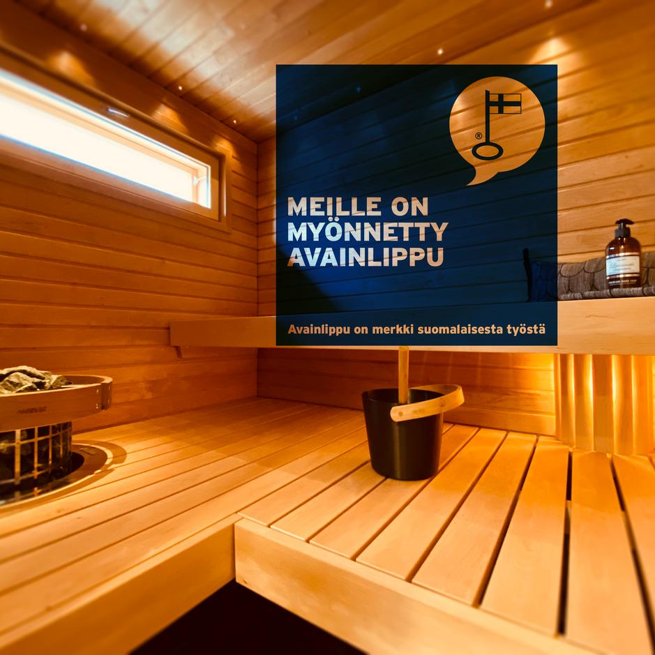 100% kotimainen sauna