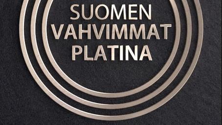 Kaarinan Trimetille Suomen Vahvimmat Platina -sertifikaatti