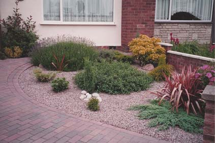Front garden in Leicester for year round colour and interest