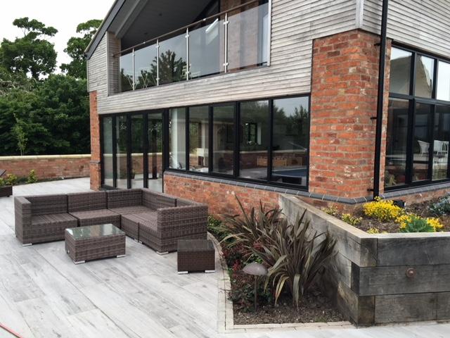 Modern terrace area