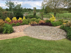 Paths and planting at a wedding venue in Warwickshire (1)