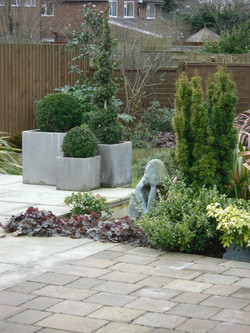 Small modern terrace