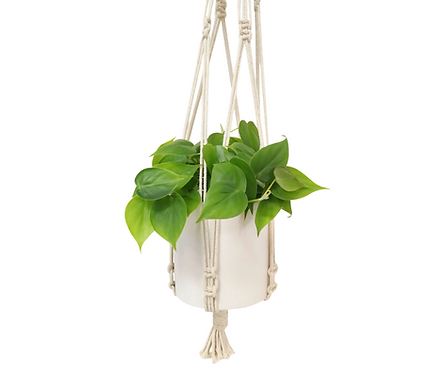 Macrame with Brass Ring Hook