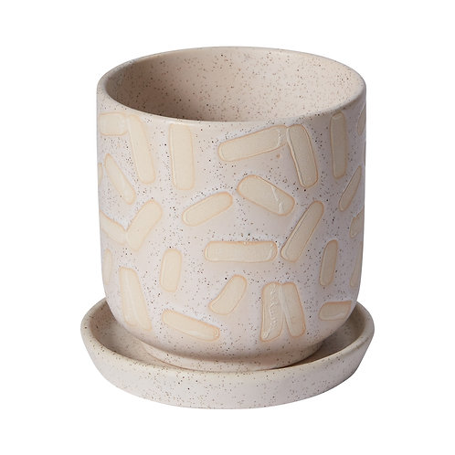 """Wednesday Pot 4"""" with Saucer"""