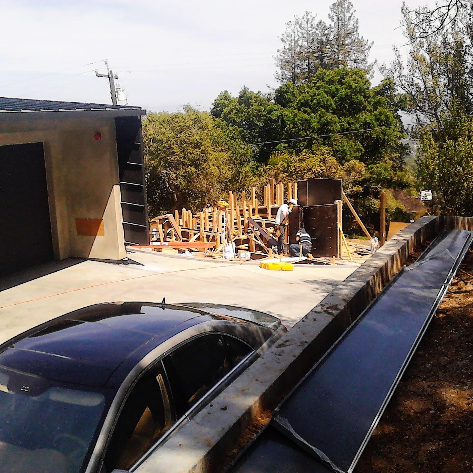Los Gatos  California Modern Landscape Progress 8
