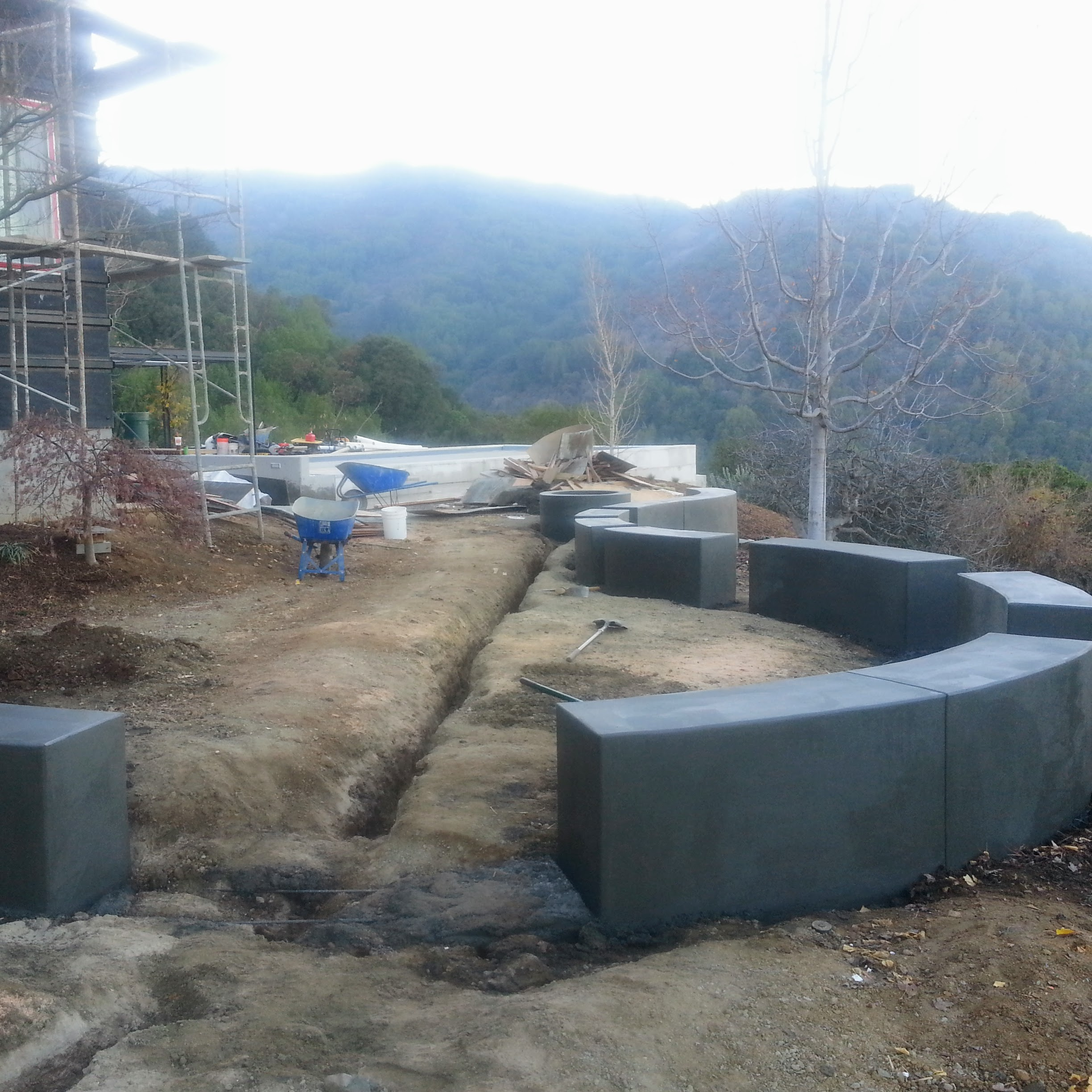Los Gatos Modern Landscape Progress
