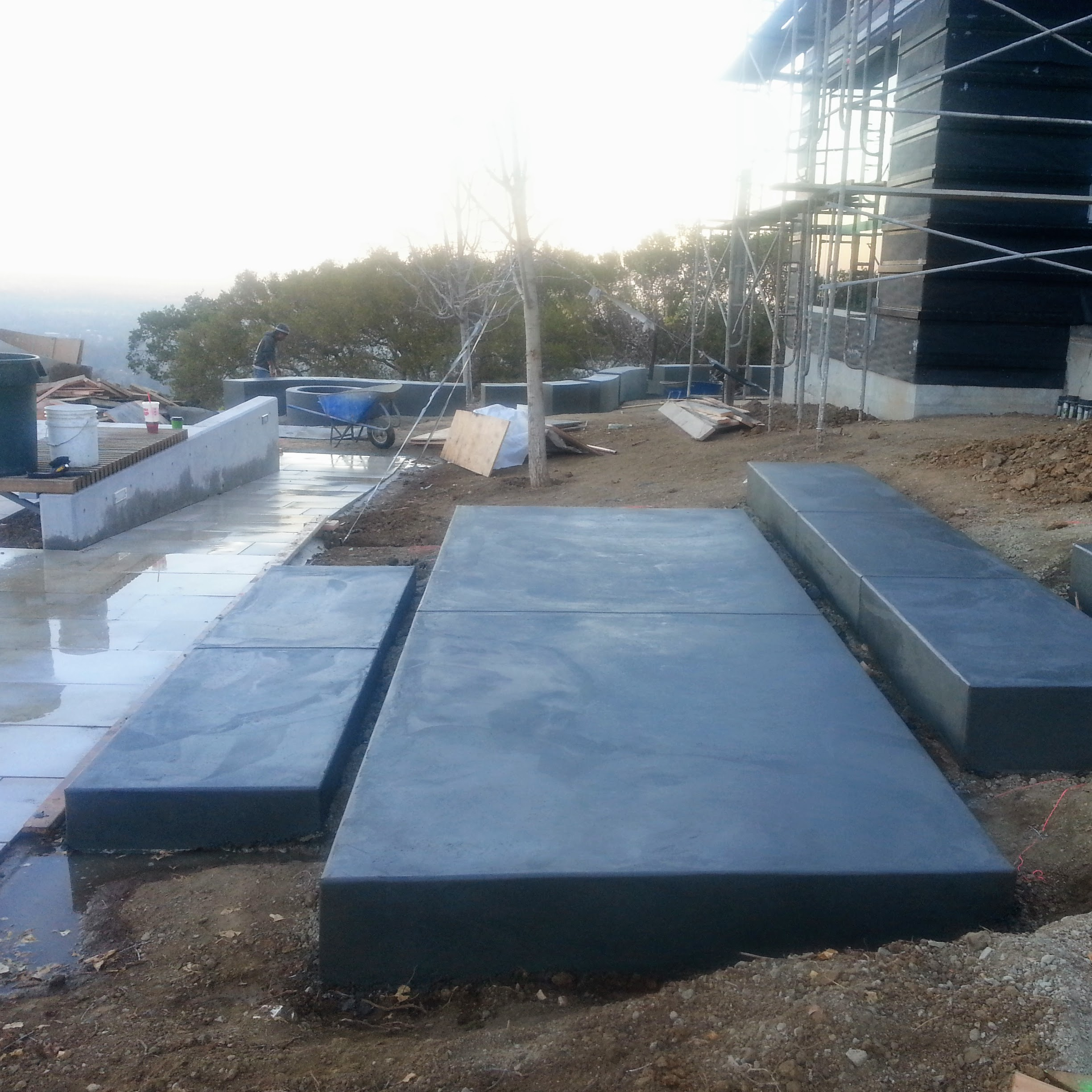 Los Gatos Modern Landscape Progress 1