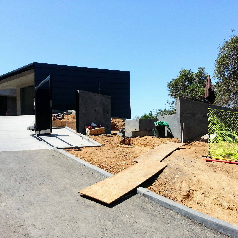Los Gatos  California Modern Landscape Progress 3