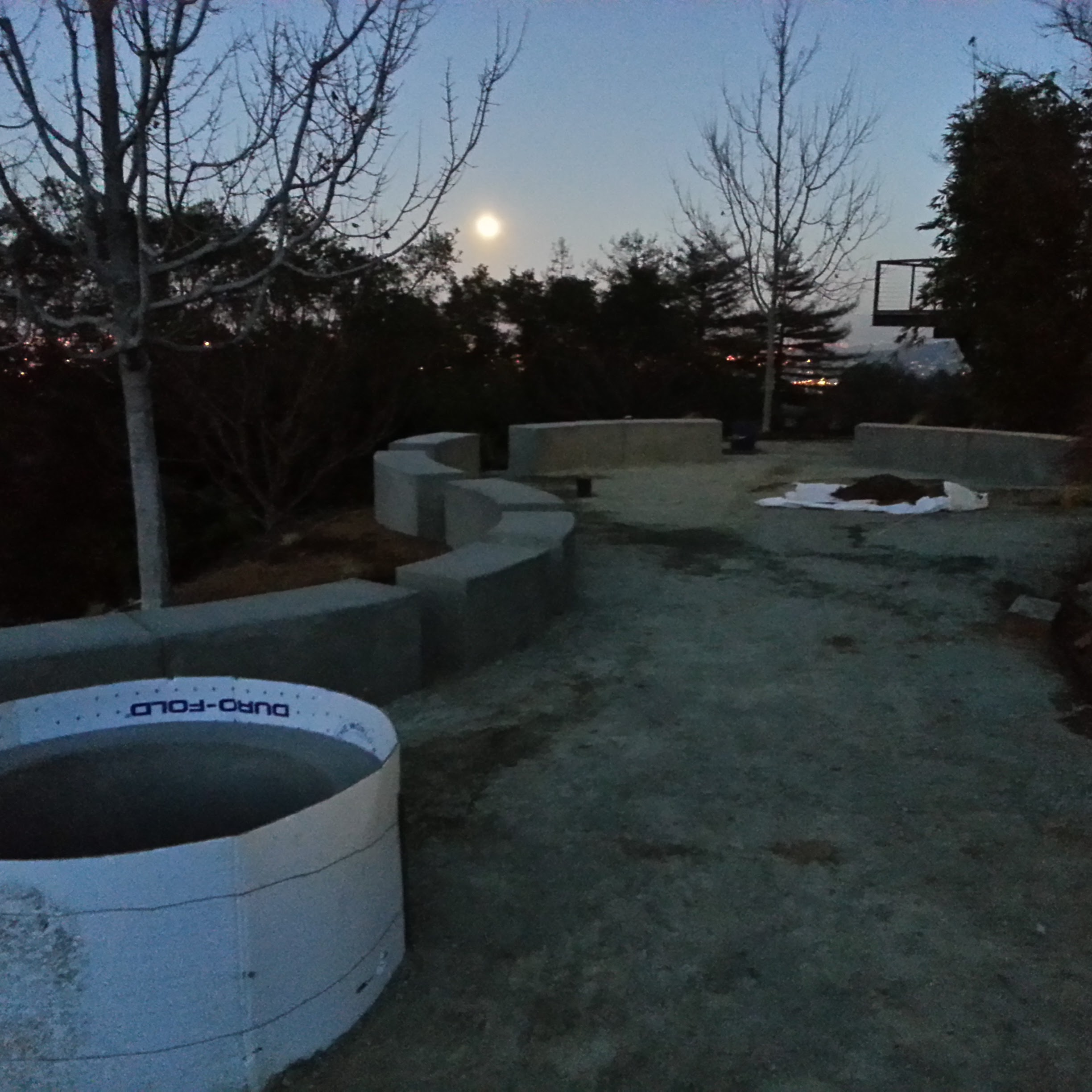 Los Gatos Modern Landscape Concrete Fire Pit Progress 3